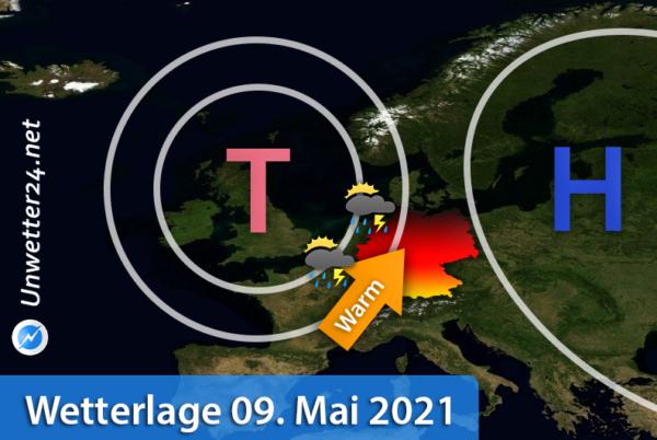 Wärme und Gewitter am 09. Mai 2021