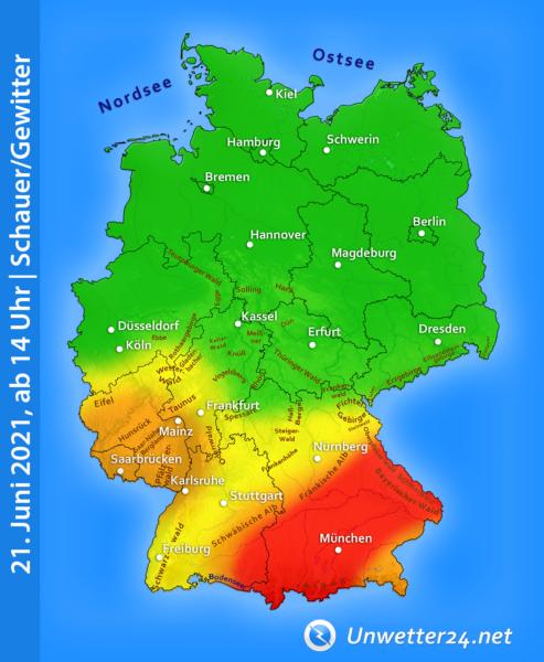 Gewitter am 21. Juni 2021