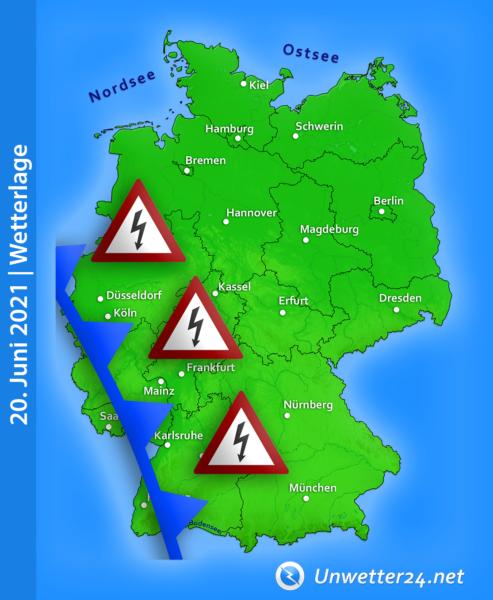 Schwere Unwetter am 20. Juni 2021
