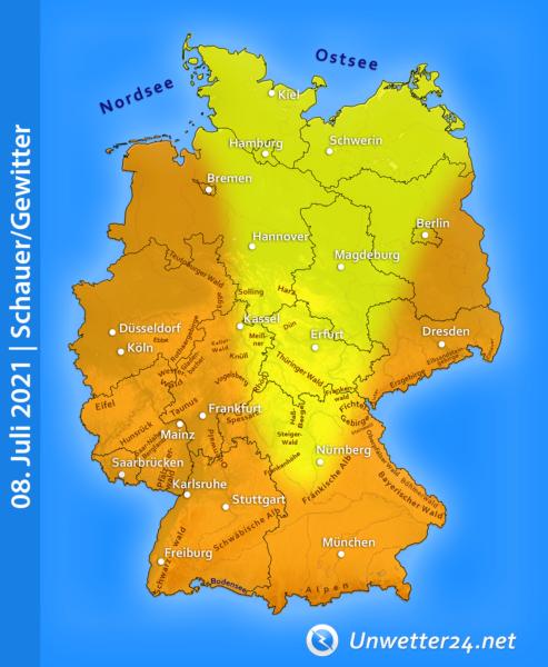 Gewitter am 08. Juli 2021