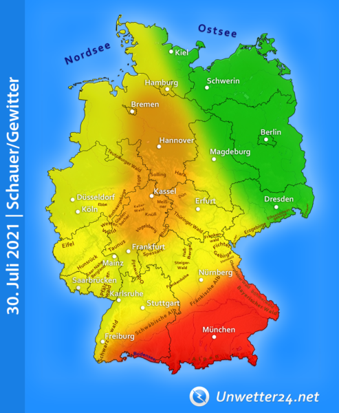 Gewitter am 30. Juli 2021