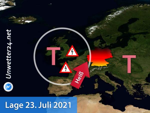 Hitzewelle und Gewitter 23. Juli 2021