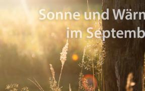 Sonne und Wärme September 2021