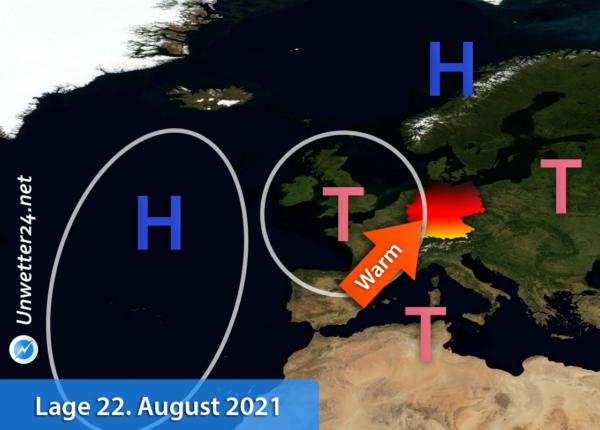 Wetterlage 22. August 2021