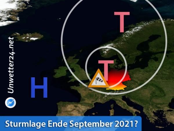 Mögliche Sturmlage 24. September 2021