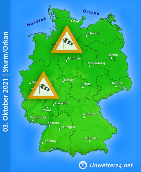 Sturm Tag der Deutschen Einheit 2021