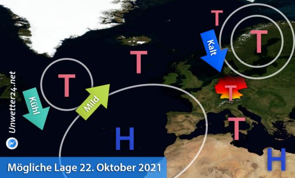 Kälteeinbruch 22. Oktober 2021